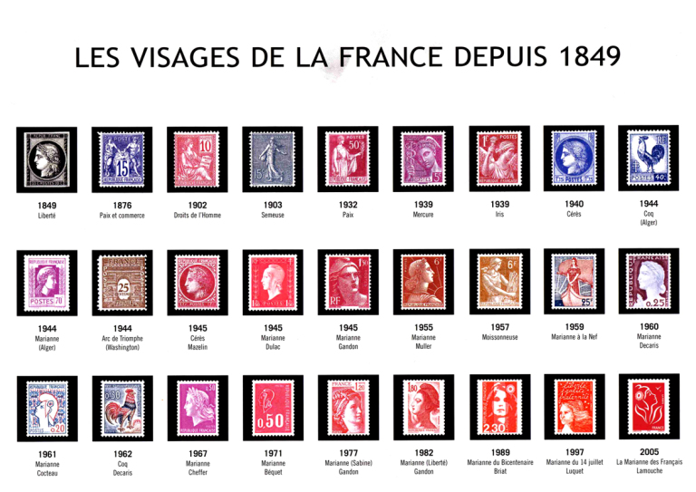 Timbres d'usage courant